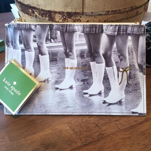 "7170e54f33e7 Kate Spade ""Kick up your heels"" pencil pouch"